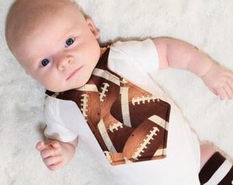 Football Baby Necktie Bib