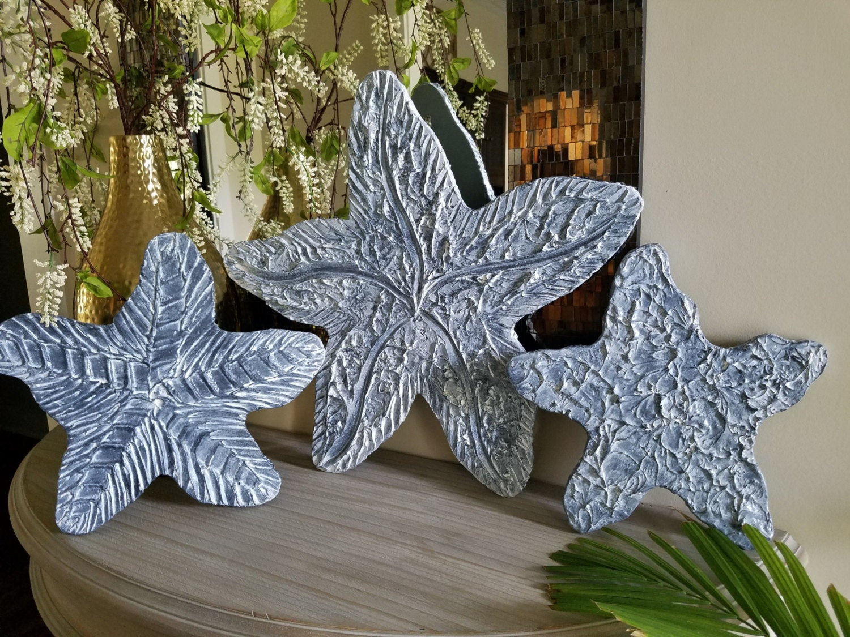 Large Starfish Wall Decor : Starfish wall art large coastal beach set of by