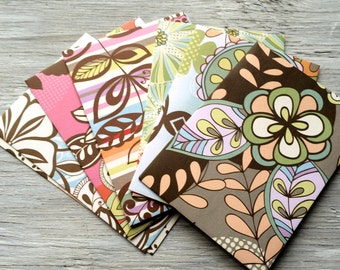 Handmade Note Card Set - Set of 8 bold floral prints