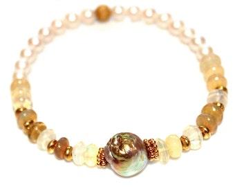 As Seen at the GBK 2016 Golden Globes Gift Lounge Baroque Pearl Bracelet Stack Bracelet Stretch Bracelet Welo Opal Bracelet Stacking