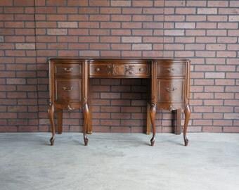 Desk / French Provincial Desk / Writing Desk / Vintage Desk / Country French Desk
