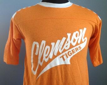 70s 80s Vintage Clemson Tigers University T-Shirt - MEDIUM