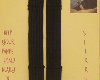 Black Elastic Pants Clips - Boot Straps - Stirrups