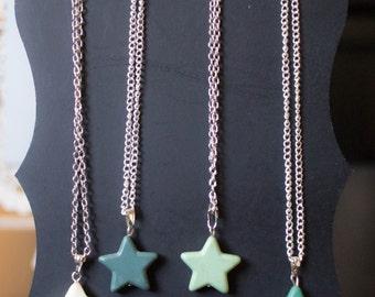 Gemstone Star Necklace