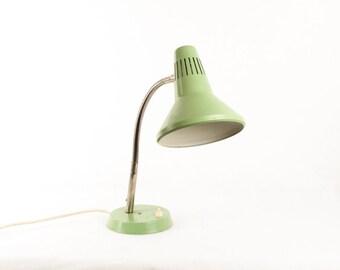 Vintage Green Desk Lamp / Retro Table Lamp Goose Neck Retro Office Light / Classic 70s Yugoslavia Industrial Desk Lamp / Socialist Soviet