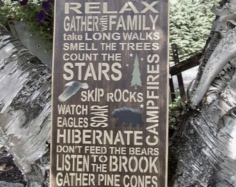 Cabin Decor, Cabin Rules, Rustic Cabin Signs, Cabin Signs, Cabin Wall Decor, Cabin Art, Cabin Decor, Wood Signs