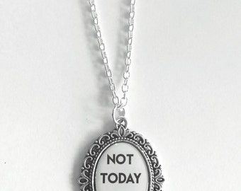 Not today Satan Cameo Necklace