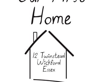 Our First Home Sweet Home illustration