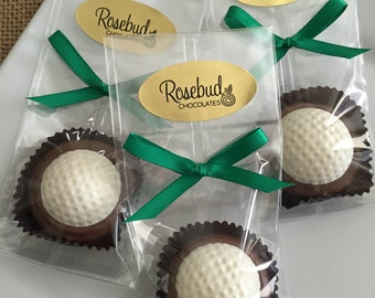 Golf Ball Chocolate Oreo Cookie Candy Sports Birthday Party Wedding Day Favors Golfer Golfing Tournament Retirement Father's Day Anniversary