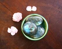 Polished Labradorite Pocket Stone Extra Large Palm Sized Worry Stone Labradorite Healing Crystal Meditation Gemstone Crystal Altar Supply