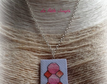"Necklace ""pink to oRange"""