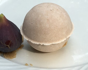 Gift for Her, Bath Bomb, Brown Sugar Fig Bath Bomb, Pampering Birthday Gift for HER