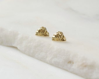 Mountain Earrings Small Gold Studs Mountain Jewelry Mountain Studs