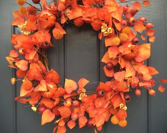 Fall Wreaths, Fall Leaves, Fall Wreath for Door, Pumpkin Wreaths, Fall Decor, Fall Decorating, Fall Pumpkins, Fall Door Wreaths, Fall Gifts
