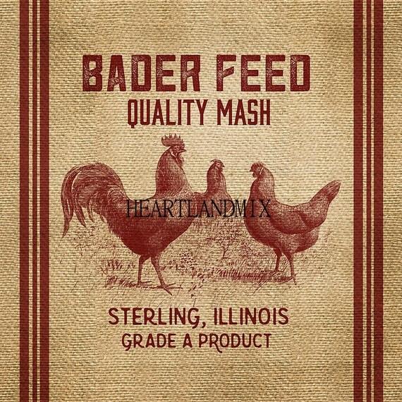 vintage feed bag print to frame downloadable printable