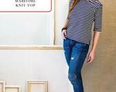 Maritime Knit Top Sewing Pattern by Liesl + Co. - T-Shirt Sewing Pattern - Pattern - Liesl Gibson - Sewing Pattern - Womens Pattern
