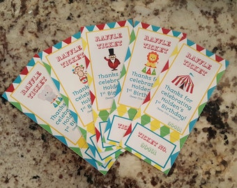 Perforated Circus Raffle Tickets