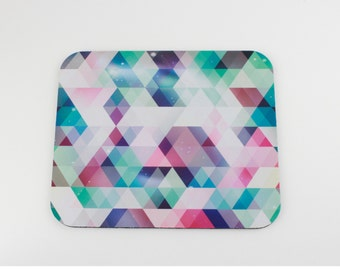 Geometric Mouse Pad / Watercolor Triangles Mousepad