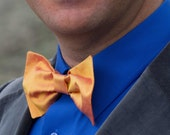 Yellow Butterfly Bow Tie in Raw Silk Hand Made in New York