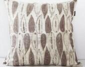 Sumac leaves Ecoprint Decorative Pillow
