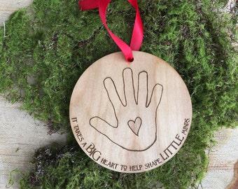 Personalized Teacher Appreciation Ornament: Teacher Appreciation Gift, Wooden Engraved Ornament