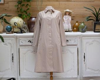 Colombo de 1970 Vintage Style manteau Beige en coupe a-line