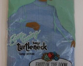 Vintage 60s Deadstock Boy's Long Sleeve Turtleneck S 10-12