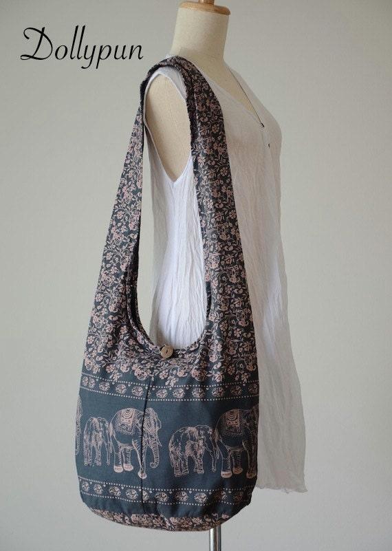 elephant bag hippie hobo bag sling crossbody bag boho bag