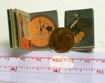 1220# Children's Book:  Mother Goose - doll house miniature - in scale 1/12