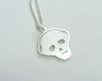 Headphone Skull Charm Necklace