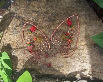 Elf Ear Cuffs - Autumn Leaves - Elven Jewelry - Autumn Fairy Ear Wraps - Fall Fairy