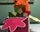 Flower Box Card Kit - Everything You Need to Create a Colorful Flower Box Card - Set of 4