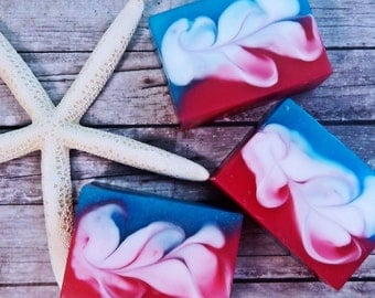 Twisted Cotton Candy Soap - Glycerin Soap - Bar Soap - Scented Soap - Pink Soap - Blue Soap - Vegan Soap - Soap Bars - Candy Scented Soap