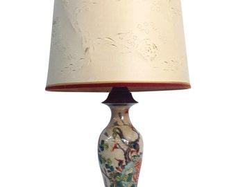 Antique Porcelain Asian Style Table Lamp