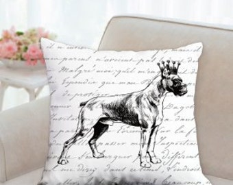 Designer Boxer with Crown Pillow