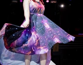 Australe - Asymmetrical Galaxy Dress (Pre-Order)