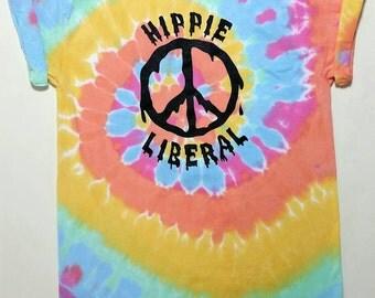 Hippie Liberal pastel tie dye Shirt