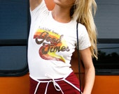 Nuthin' but Good Times-women's t shirt-70s-vintage tee-women's 70s tee-graphic tee-vintage inspired- 1970s-made in usa-fitted-retro-t shirt