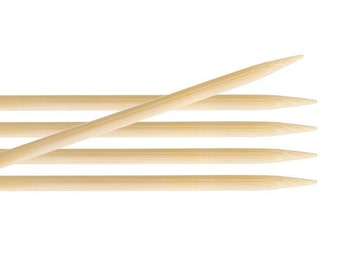 KnitPro Bamboo DPN's double pointed needles - 15cm