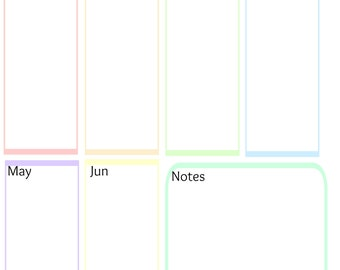 Printable Dates To Remember Planner Page