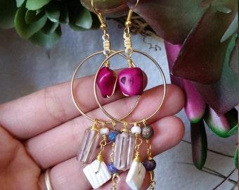 Purple Gypsy Earrings