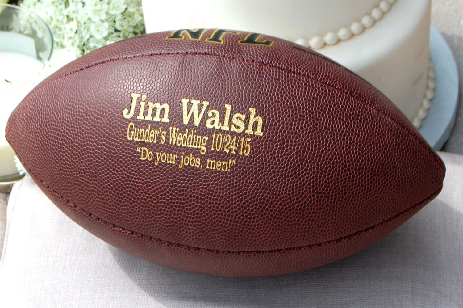 Personalized Wedding Gifts For Groomsmen: Personalized Football Ring Bearer Gift Groomsmen And Best