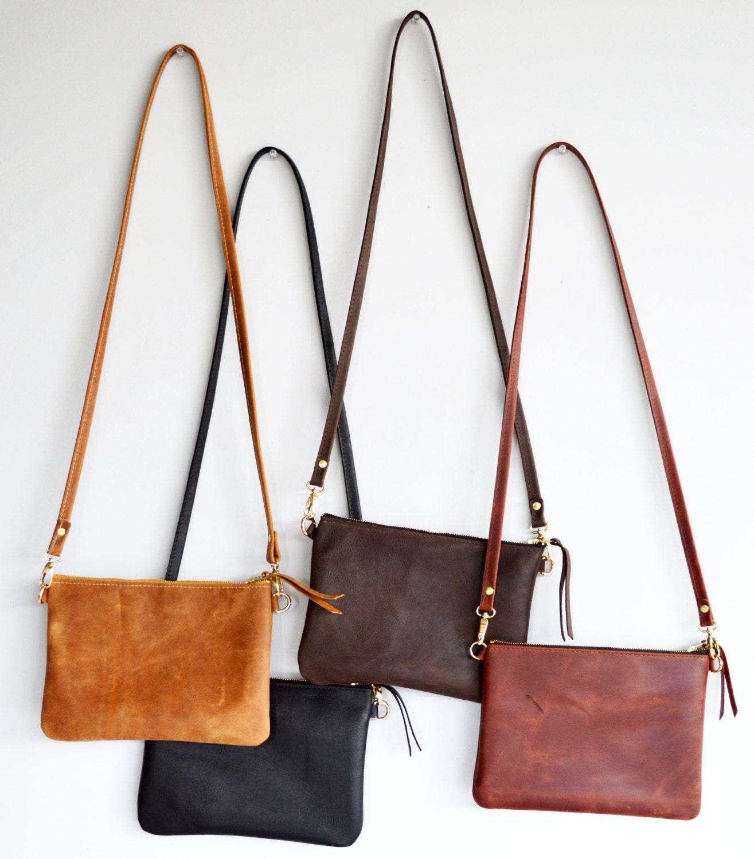Leather crossbody bag / Minimalist bag / Small leather bag