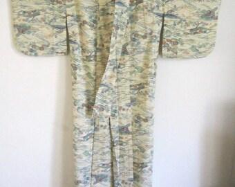 Japanese Kimono Wearable or Craft Fabric