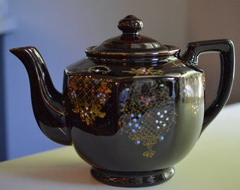 Brown Betty Teapot Alb Alcock Lindley Bloore England 4 Cup
