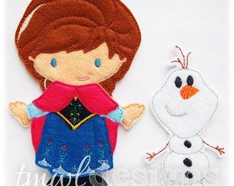Cold Explorer Dress With Cape Felt Paper Doll Toy Outfit Digital Design File - 5x7