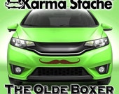 """24"""" Car Mustache Vinyl Decal Sticker - Style; Olde Boxer - Color; Brown  -  Karma Stache: Your #1 Source for Car Mustaches!"""