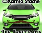 "48"" Car Mustache Vinyl Decal Sticker - Style; Fancypants - Color; Brown  -  Karma Stache: Your #1 Source for Car Mustaches!"