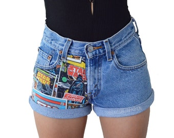 High Waisted Star Wars Shorts MANY SIZES