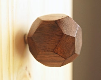 Octagon wooden knobs
